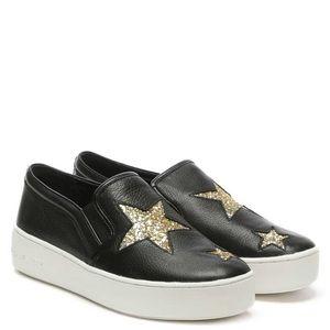 Michael Kors Black Pia Star Slip On Sneaker